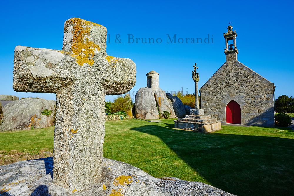 France, Finistère (29), Brignogan plages, chapelle Pol // France, Briitany, Finistere, Pol church