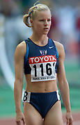 Jennifer Toomey of the United States in 800-meter semifinal in the IAAF World Championships in Athletics at Stade de France on Sunday, Aug, 24, 2003.