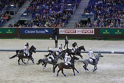 Demonstration Horse Ball<br /> CHI Genève 2015<br /> © Hippo Foto - Dirk Caremans<br /> 12/12/15