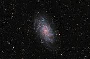 Tringaulum Galaxy, Messier 33 (M33), the great galaxy in  constellation of Triangulum.