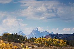 """Autumn,  Grand Tetons, Gros Ventre River Valley, Jackson Hole, Wyoming<br /> <br /> For production prints or stock photos click the Purchase Print/License Photo Button in upper Right; for Fine Art """"Custom Prints"""" contact Daryl - 208-709-3250 or dh@greater-yellowstone.com"""
