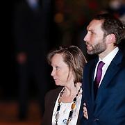 NLD/Utrecht/20130201 - Vertrek 75ste verjaardagfeest  Koninging Beatrix, Prinses Margarita de Bourbon de Parme en partner Tjalling ten Cate
