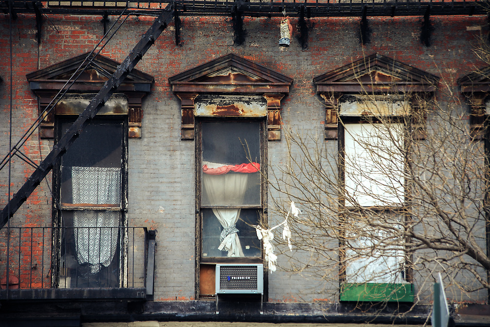 Old tenement building in Brooklyn. NYC 2012