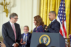 Bill Gates and his wife Melinda announce their divorce. The billionaire co-founder of Microsoft, and his wife, who reside in Washington State, are to divorce after twenty-seven years of marriage, and twenty years of working together in their foundation - File photo dated November 22, 2016 of United States President Barack Obama presents the Presidential Medal of Freedom to Bill and Melinda Gates during a ceremony in the East Room of the White House in Washington, DC on Tuesday, November 22, 2016. The Presidential Medal of Freedom is the Nation's highest civilian honor. Photo by Ron Sachs / CNP/ABACAPRESS.COM