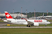 HB-JBG Swiss International Air Lines Bombardier CSeries CS100 (BD-500-1A10) Airbus A220-100 at Malpensa (MXP / LIMC), Milan, Italy