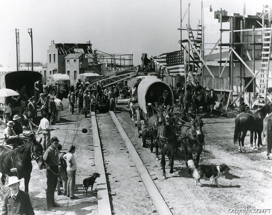1941 Filming Belle Starr at 20th Century Fox Studios