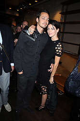 """Model LIBERTY ROSS and her husband RUPERT SAUNDERS at a party and exclusive private view of 'Naked Portrait With Reflection"""" by Lucian Freud hosted by Christie's held at 17 Berkeley Street, London on 17th June 2008.<br /><br />NON EXCLUSIVE - WORLD RIGHTS"""