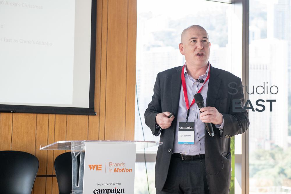 Presentation by Alan VanderMolen, President, International WE, during Brands in Motion Breakfast Briefing in Hong Kong, China, on 21 September 2018. Photo by Lucas Schifres/Studio EAST