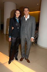 Rower JAMES CRACKNELL and TV presenter BEVERLEY TURNER at a Burns Night dinner in aid of CLIC Sargent and Children's Hospice Association Scotland held at St.Martin's Lane Hotel, St.Martin's Lane, London on 25th January 2007.<br />