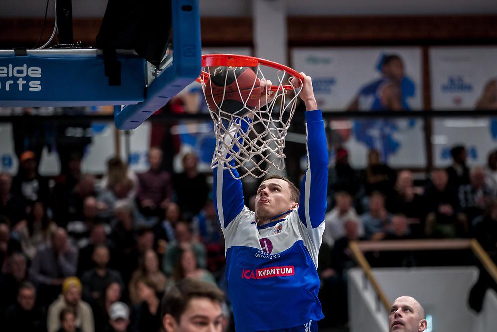 ÖSTERSUND 20200310<br /> Jämtlands Jaan Puidet  under tisdagens match i basketligan mellan Jämtland Basket och Södertälje Basket i Östersunds Sporthall.<br /> <br /> Foto: Per Danielsson/Projekt.P