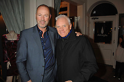 Left to right, SIMON OAKES co owner of Hammer films and actor MALCOLM McDOWELL at a party hosted by Allegra Hicks to launch Lapo Elkann's fashion range in London held at Allegra Hicks, 28 Cadogan Place, London on 14th November 2007.<br /><br />NON EXCLUSIVE - WORLD RIGHTS