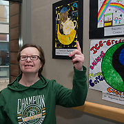 05/03/2019<br /> Pictured is award winner Patricia Barrett, from Brothers of Charity Fairgreen, alongside her poster.<br /> <br /> Fairtrade worker Sara Montoya, from a Fairtrade Coffee Co-op in Colombia was the special guest in Limerick City and County Council chamber today at an event to coincide with Fairtrade Fortnight.<br />  <br /> Sara joined Fairtrade supporters from across Limerick and Ireland for the annual initiative, which features a programme of talks and community events aimed at promoting awareness of Fairtrade and Fairtrade-certified products.<br />  <br /> Speaking at the event in Dooradoyle, Sara outlined the success and benefits of the Fairtrade movement in Colombia and how important it is for people in the developed world think of Fairtrade products when shopping.<br />  <br /> This year's campaign 'Create Fairtrade' invites us all to use our imagination and create fairtrade in our lives.<br />  <br /> Young people from across Limerick city and county were also a focus of the event as they displayed their posters, which they created to help change the way people think about trade and the products on our shelves.<br /> Photo by Diarmuid Greene