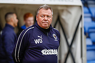 Wimbledon Manager Wally Downes  during the EFL Sky Bet League 1 match between Shrewsbury Town and AFC Wimbledon at Greenhous Meadow, Shrewsbury, England on 2 March 2019.