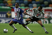 """LISBOA 21 MARCH 2005: # and # in the 26 leg of the Super Liga, season 2004/2005, match  Sporting CP (2) vs FC Porto (0), held in """"Alvalade XXI"""" stadium,  21/03/2005  21:19:19<br /> (PHOTO BY: NUNO ALEGRIA/AFCD)<br /> <br /> PORTUGAL OUT, PARTNER COUNTRY ONLY, ARCHIVE OUT, EDITORIAL USE ONLY, CREDIT LINE IS MANDATORY AFCD-PHOTO AGENCY 2004 © ALL RIGHTS RESERVED"""