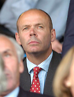 Photo: Leigh Quinnell.<br /> Luton Town v Southampton. Coca Cola Championship.<br /> 09/08/2005.Sir Clive woodward watches the game.