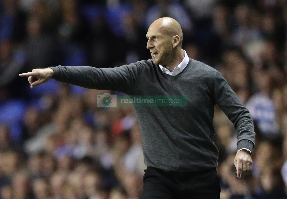 Reading manager Jaap Stam during the Sky Bet Championship match at the Madjeski Stadium, Reading.