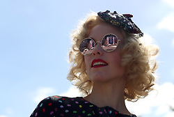 Meg 'The Peach' from the Tootsie Rollers during day four of Royal Ascot at Ascot Racecourse.