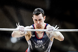 October 29, 2018 - Doha, Qatar - Colin Van Wicklen of  United States   during  High Bar, Team final for Men at the Aspire Dome in Doha, Qatar, Artistic FIG Gymnastics World Championships on October 29, 2018. (Credit Image: © Ulrik Pedersen/NurPhoto via ZUMA Press)