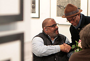 April 8, 2018-New York, New York-United States: (L-R) Photographer/MacArthur Fellow Dawoud Bey and Photographer Bill Gaskins attend the Photography Show presented by AIPAD held at Pier 94 on April 8, 2018 in New York City. The Photography Show, held at Pier 94, is the longest-running and foremost exhibition dedicated to the photographic medium, offering contemporary, modern, and 19th century photographs as wells photo-based art, video and new media.(Photo by Terrence Jennings/terrencejennings.com)