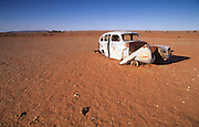 Abandoned, rusted car in Broken Hill, New South Wales, Australia