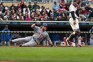 Justin Turner #2 of the New York Mets slides safely into home during a game against the Minnesota Twins on April 13, 2013 at Target Field in Minneapolis, Minnesota.  The Mets defeated the Twins 4 to 2.  Photo: Ben Krause