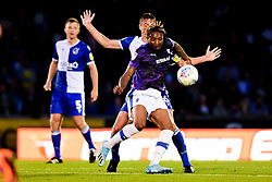 Tom Davies of Bristol Rovers challenges Morgan Ferrier of Tranmere Rovers - Mandatory by-line: Ryan Hiscott/JMP - 20/08/2019 - FOOTBALL - Memorial Stadium - Bristol, England - Bristol Rovers v Tranmere Rovers - Sky Bet League One