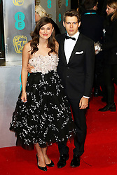 © London News Pictures. Keira Knightley, James Righton, EE British Academy Film Awards (BAFTAs), Royal Opera House Covent Garden, London UK, 08 February 2015, Photo by Richard Goldschmidt /LNP