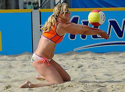 06-06-2010 VOLLEYBAL: JIBA GRAND SLAM BEACHVOLLEYBAL: AMSTERDAM<br /> In een koninklijke ambiance streden de nationale top, zowel de dames als de heren, om de eerste Grand Slam titel van het seizoen bij de Jiba Eredivisie Beach Volleyball - Rebekka de Kogel Kadijk<br /> ©2010-WWW.FOTOHOOGENDOORN.NL