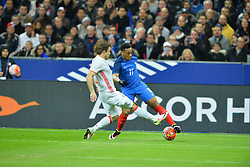 29.03.2016, Stade de France, St. Denis, FRA, Testspiel, Frankreich vs Russland, im Bild kuzmin oleg, martial anthony // during the International Friendly Football Match between France and Russia at the Stade de France in St. Denis, France on 2016/03/29. EXPA Pictures © 2016, PhotoCredit: EXPA/ Pressesports/ LAHALLE PIERRE<br /> <br /> *****ATTENTION - for AUT, SLO, CRO, SRB, BIH, MAZ, POL only*****