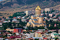 Georgie, Caucase, Tbilissi, vieille ville, Cathedrale de la Trinité // Georgia, Caucasus, Tbilisi, old city, holy Trinity cathedral