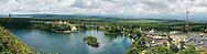 Mauritius Island. Panoramic view. Grand Bassin
