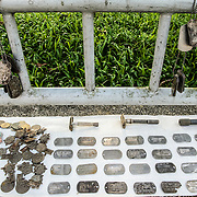 American military dogtags for sale on the side of the road in Hue, Vietnam.