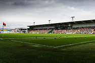 A general view of Rodney Parade, home of Newport County FC before the EFL Sky Bet League 2 match between Newport County and Tranmere Rovers at Rodney Parade, Newport, Wales on 17 October 2020.
