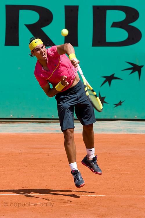 Paris, France. May 25th 2009. .Roland Garros - Tennis French Open. 1st Round..Spanish player Rafael Nadal against Marcos Daniel.