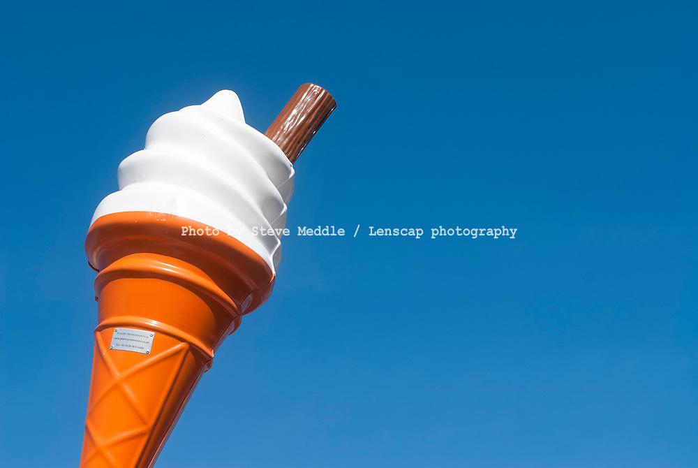 Giant Plastic Ice Cream Cone - Apr 2010