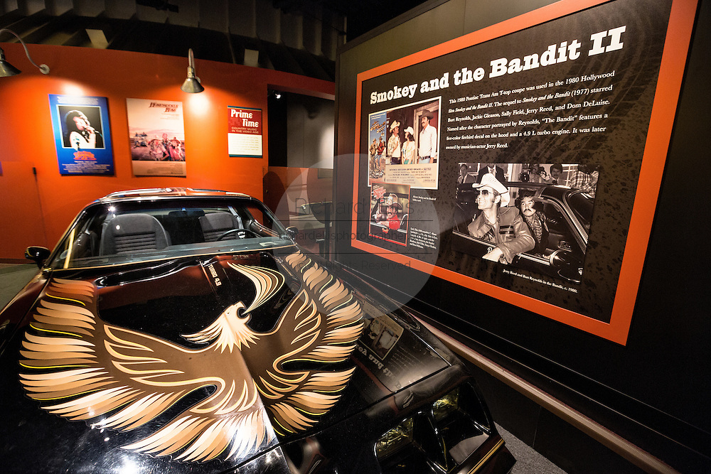 Pontiac Trans Am owned by Burt Reynolds from the movie Smoky and the Bandit on display in the Country Music Hall of Fame in Nashville, TN.