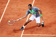 Roland Garros 2011. Paris, France. May 27th 2011..French player Jo-Wilfried TSONGA against Stanislas WAWRINKA