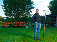 Editorial Portrait Farmer, owner, Blue Heron Organic Farm