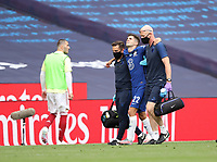 Football - 2020 Emirates 'Heads Up' FA Cup Final - Arsenal vs. Chelsea <br /> <br /> Christian Pulisic (C) goes off injured, at Wembley Stadium.<br /> <br /> The match is being played behind closed doors because of the current COVID-19 Coronavirus pandemic, and government social distancing/lockdown restrictions.