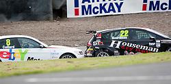 Car 8 - Rob Collard hits car 22 - Tom Boardman..British Touring Car Championship at Knockhill, Sunday 4th September 2011. .© pic Michael Schofield.