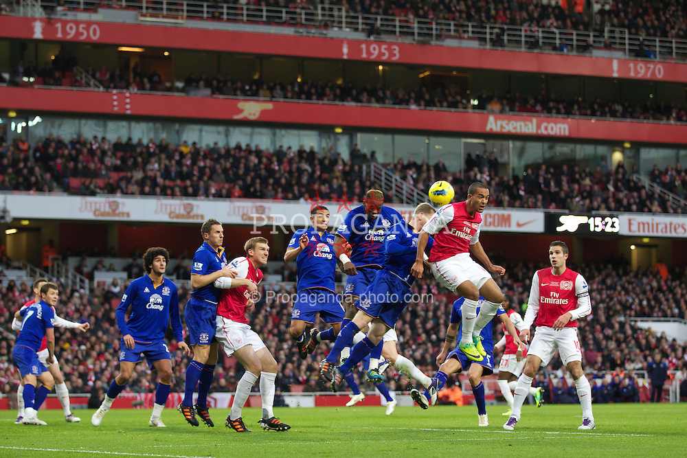 LONDON, ENGLAND - Saturday, December 10, 2011: Arsenal's Theo Walcott during the Premiership match against Everton at the Emirates Stadium London. (Pic by Phil Cole/Propaganda)