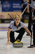 """Glasgow. SCOTLAND.   Russia's Galina ARSENKINA, during the  """"Round Robin"""" Game. CZE vs RUS, Le Gruyère European Curling Championships. 2016 Venue, Braehead  Scotland<br /> Monday  21/11/2016<br /> <br /> [Mandatory Credit; Peter Spurrier/Intersport-images]"""