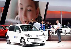 10.09.2013, Messegelaende, Frankfurt, GER, IAA 2013, im Bild Volkswagen Halle, elektrischer e-up // during the IAA 2013 at the Messegelaende in Frankfurt, Germany on 2013/09/10. EXPA Pictures © 2013, PhotoCredit: EXPA/ Eibner/ Global<br /> <br /> ***** ATTENTION - AUSTRIA ONLY *****