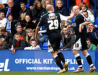 Photo: Paul Greenwood.<br />Tranmere Rovers v Swansea City. Coca Cola League 1. 10/03/2007.<br />Swansea's Ian Craney (L) and Andy Robinson, celebrate the opening goal