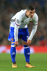 12th September 2017 - UEFA Champions League - Group A - Manchester United v FC Basel - Taulant Xhaka of Basel looks dejected - Photo: Simon Stacpoole / Offside.