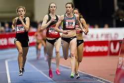 New Balance Indoor Grand Prix track meet: Women's 2 Mile, Sheila Reid, CAN leads Mary Cain