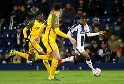 """West Bromwich Albion's Rayhaan Tulloch (right) in action during the FA Cup fourth round replay match at The Hawthorns, West Bromwich. PRESS ASSOCIATION Photo. Picture date: Tuesday February 5, 2019. See PA story SOCCER West Brom. Photo credit should read: Aaron Chown/PA Wire. RESTRICTIONS: EDITORIAL USE ONLY No use with unauthorised audio, video, data, fixture lists, club/league logos or """"live"""" services. Online in-match use limited to 120 images, no video emulation. No use in betting, games or single club/league/player publications."""