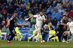 January 19, 2019 - Madrid, Madrid, Spain - Karim Benzema (Real Madrid) seen in action during the La Liga match between Real Madrid and Sevilla FC at the Estadio Santiago Bernabéu in Madrid. (Credit Image: © Manu Reino/SOPA Images via ZUMA Wire)