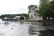 Henley, Great Britain.  Henley Royal Regatta. M2-, Silver Goblets & Nickalls' Challenge Cup, Leander Club and Molesey Boat Club, GBR, Pete REED [bow], and Andy TRIGGS-HODGE [stroke] [Bucks], power away from the Start, alongside Nautical Club of Thessaloniki, GRE, at the Start, of their Semi-Final. River Thames Henley Reach.  Royal Regatta. River Thames Henley Reach.  Saturday  02/07/2011  [Mandatory Credit  Intersport Images] . HRR