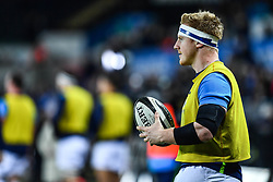 Leinster's James Tracy during the pre match warm up<br /> <br /> Photographer Craig Thomas/Replay Images<br /> <br /> Guinness PRO14 Round 18 - Ospreys v Leinster - Saturday 24th March 2018 - Liberty Stadium - Swansea<br /> <br /> World Copyright © Replay Images . All rights reserved. info@replayimages.co.uk - http://replayimages.co.uk